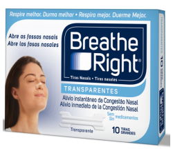 breathe right tira nasal transp.g.10u